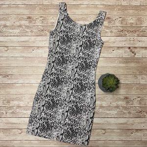 Divided Black and White Dress